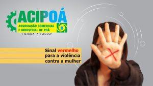 Sinal vermelho contra a violência doméstica